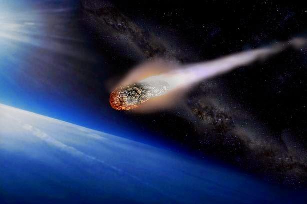 Asteroid jatuh
