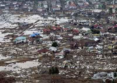 Dampak Tsunami dahsyat di Aceh