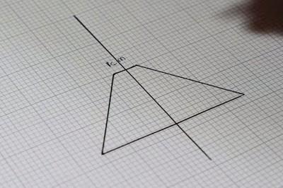 Gambar garis segiti tumpul (Trapesium)