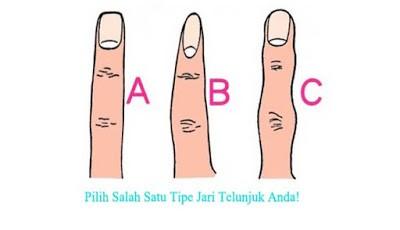 Menebak kepribadian bentuk jari