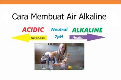 Cara membuat air Alkaline sendiri di rumah