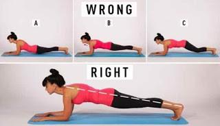 Gerakan plank yang benar