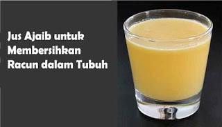 Segelas jus pembersih toksin dalam tubuh