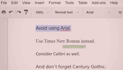 Jenis - jenis font