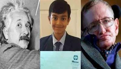 Dhruv memperoleh skor IQ menandingi kecerdasan Einstain dan Hawking