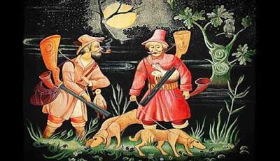 Lukisan pemburu hewan liar