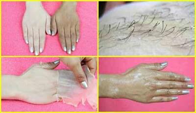 Krim alami untuk menghilangkan bulu rambut