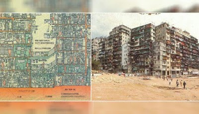 Padatnya jumlah penduduk di Walled City