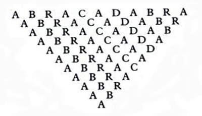 Abracadabra piramida