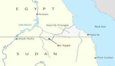 Peta wilayah Bir Tawil