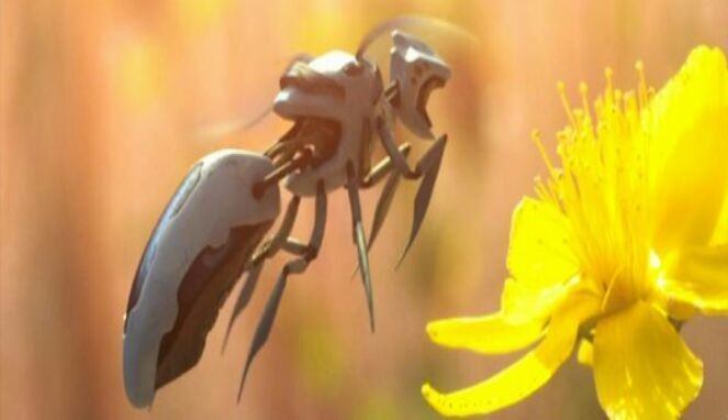Lebah madu robot
