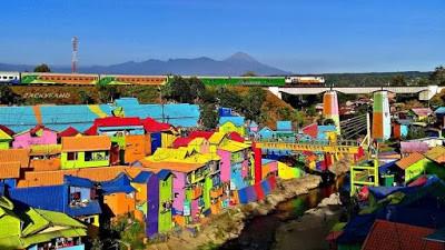 Kampung Warna -warni Jodipan Malang