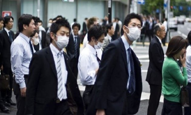 Tren masker wajah di Jepang