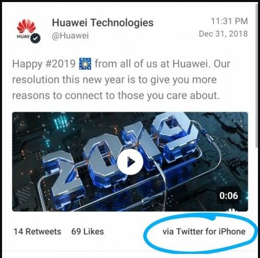 Kesalahan Huawei