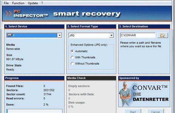 Mengembalikan foto yang terhapus dengan PC Inspetor Smart Recovery