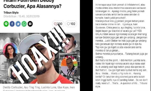 Tribunnews hoax