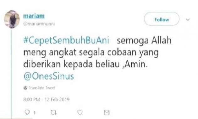 Trending Topic #CepetSembuhBuAni