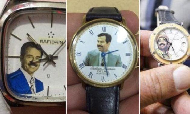 Arloji bergambar Saddam Hussein