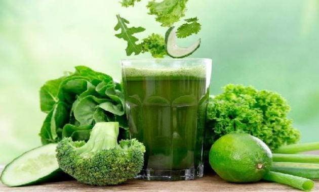Jus hijau yang menyehatkan