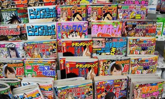 Banyak majalah khusus dewasa dijual bebas di Jepang